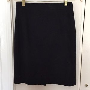 Black wool JCrew pencil skirt